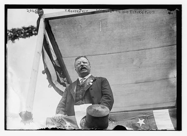T. Roosevelt speaking on this return to the U.S.