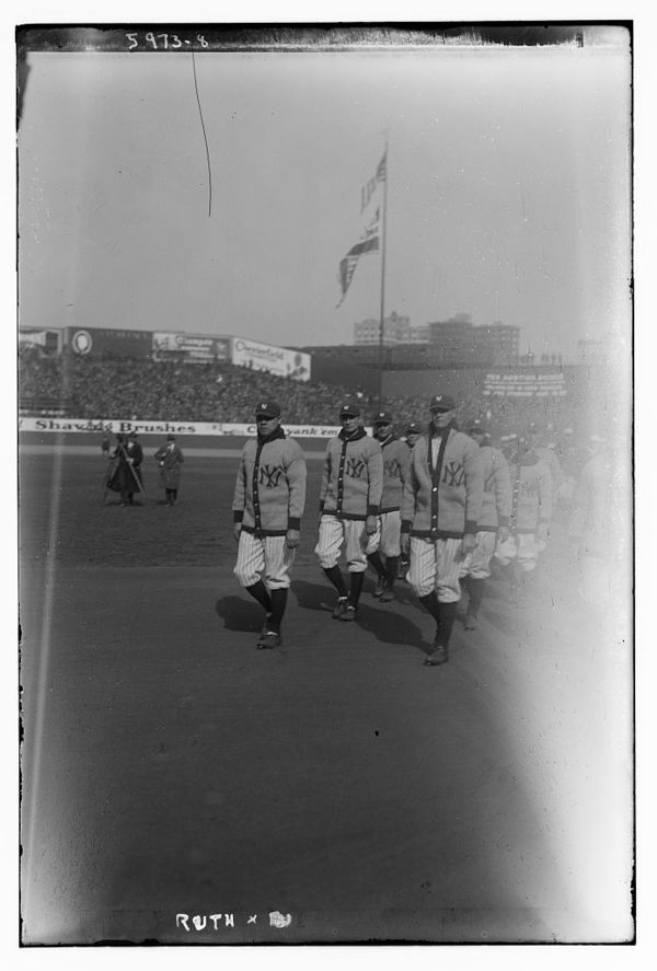 Babe Ruth, at opening of Yankee Stadium (baseball)