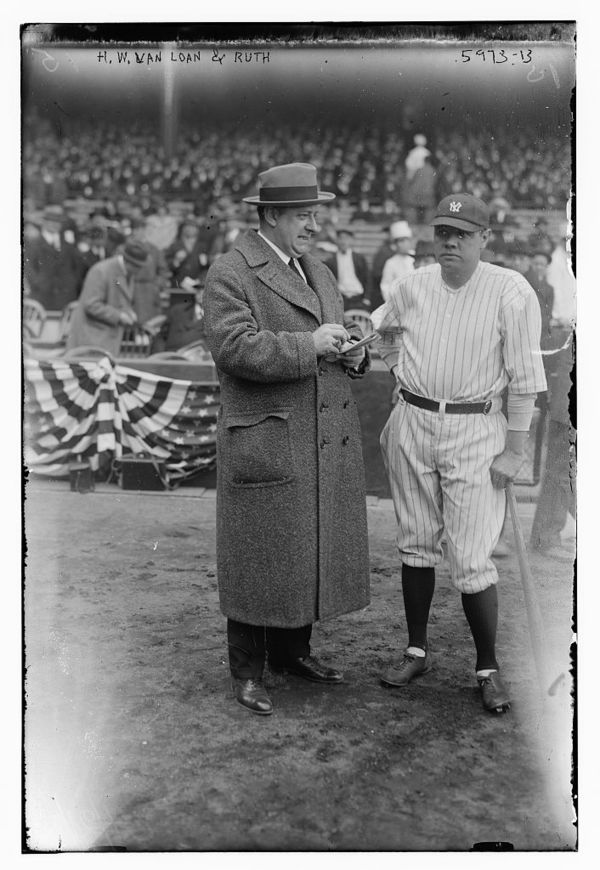 H.H. Van Loan, a screen playwright, & Babe Ruth, New York AL (baseball)