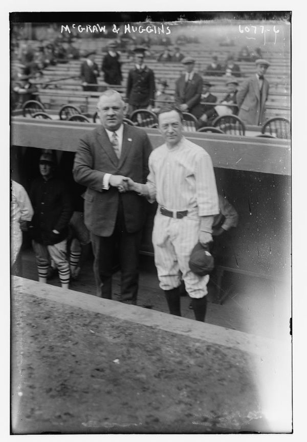 John McGraw, manager, New York NL & Miller Huggins, manager, New York AL (baseball)