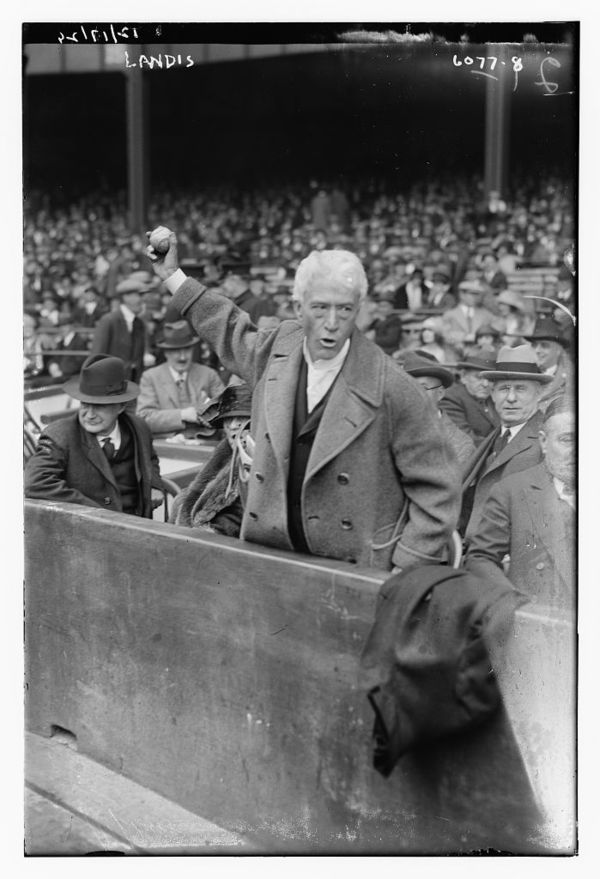 Judge Kenesaw M. Landis, Commissioner of Baseball