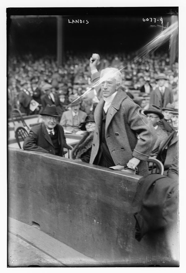 Judge Kenesaw M. Landis. Commissioner of Baseball