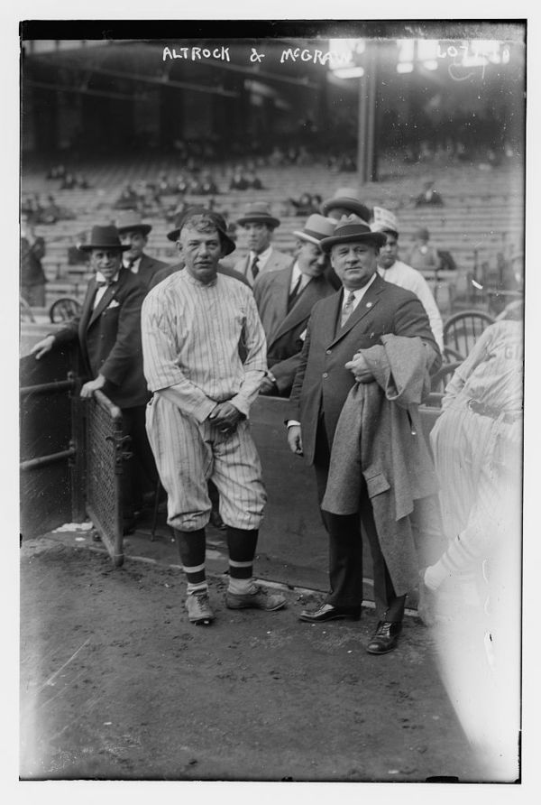 Nick Altrock, Washington AL & John McGraw, manager, New York NL (baseball)
