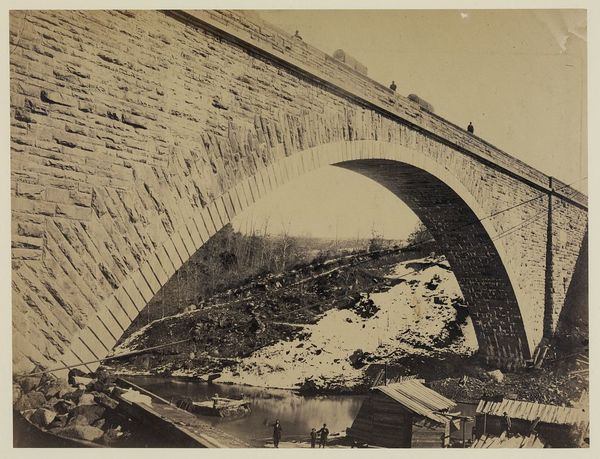 Perspective view of Union Arch, Washington Aqueduct, built by Gen. M.C. Meigs. Span of 220 feet