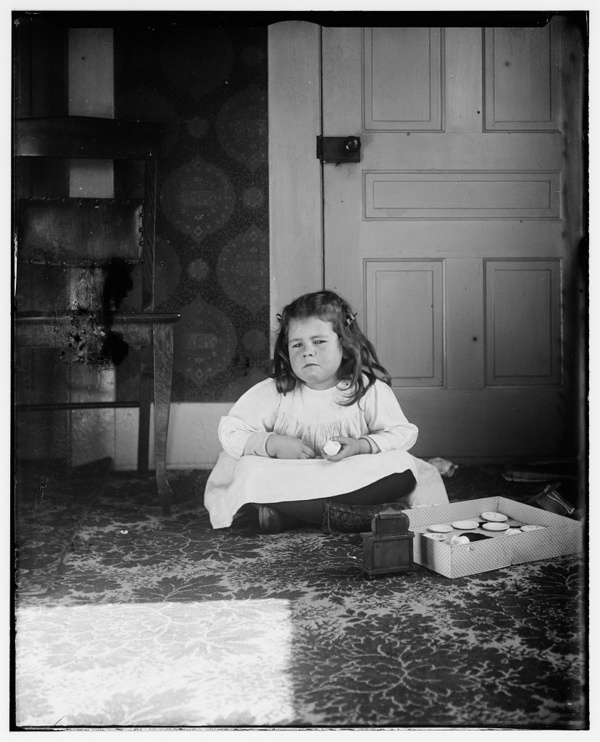 Bertha Wright, age five, niece of the Wright brothers, daughter of Lorin Wright