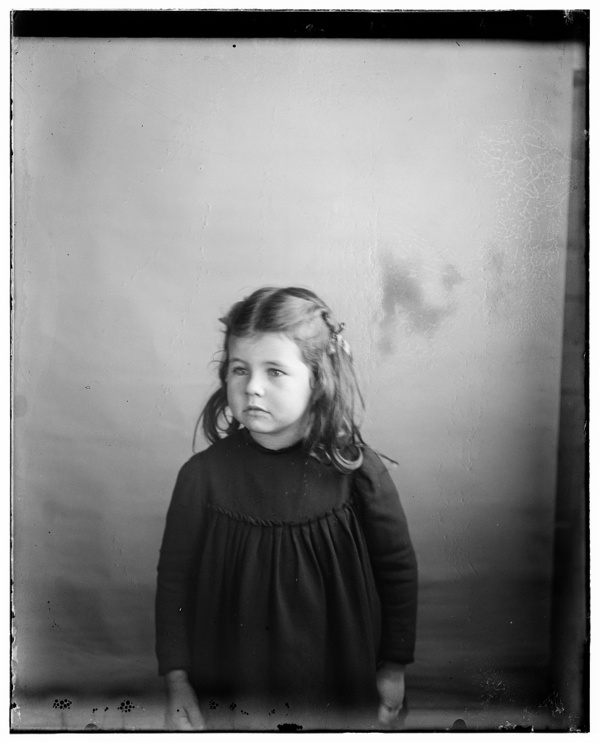 Bertha Wright, niece of the Wright brothers, daughter of Lorin Wright, age five