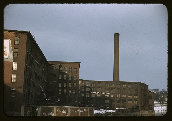 Factory buildings in Lowell, Mass.