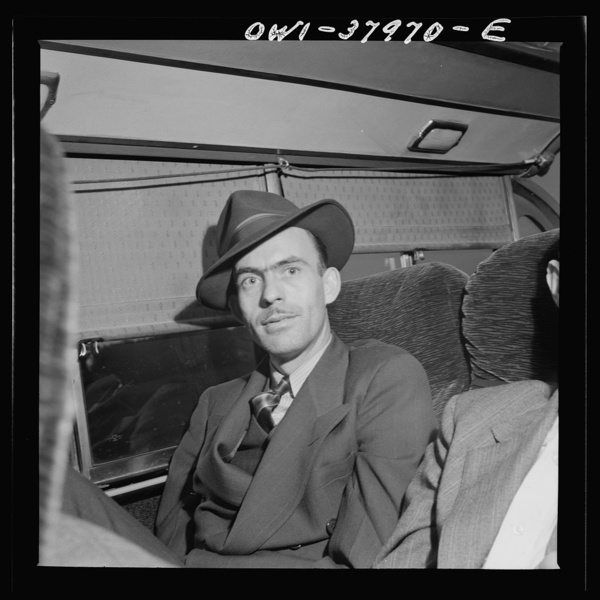 A Greyhound bus trip from Louisville, Kentucky, to Memphis, Tennessee, and the terminals. Bus passenger enroute from Little Rock, Arkansas to Nashville to take new job
