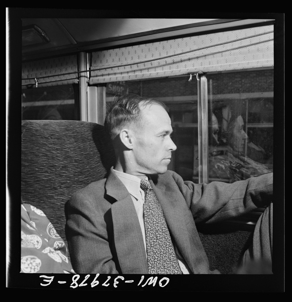 A Greyhound bus trip from Louisville, Kentucky, to Memphis, Tennessee, and the terminals. Bus passengers enroute Louisville to Nashville