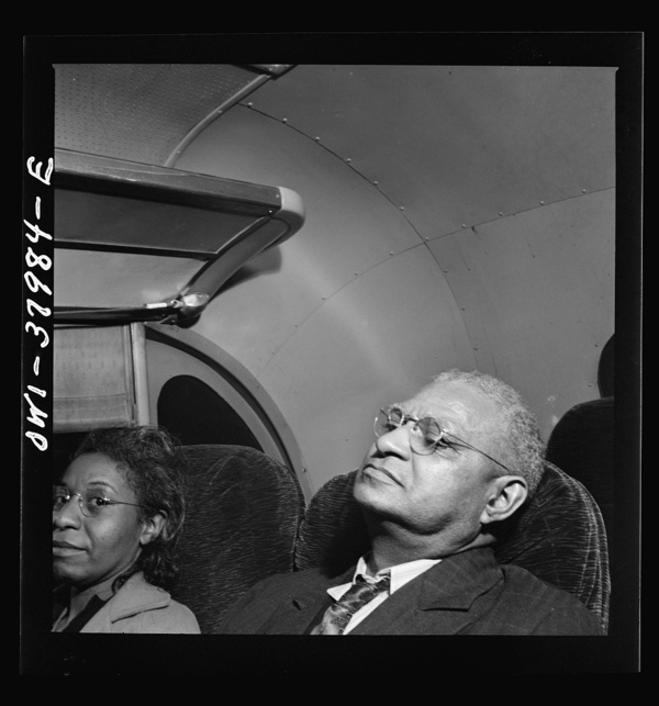 A Greyhound bus trip from Louisville, Kentucky, to Memphis, Tennessee, and the terminals. Colored passenger on Louisville-Nashville bus