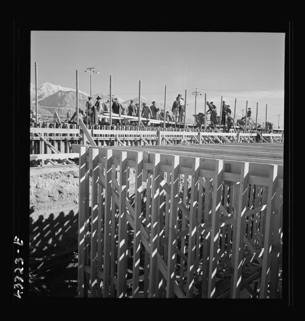 Columbia Steel Company at Geneva, Utah. Partly finished open hearth furnaces and stacks for a new steel mill under construction which will soon be producing vitally needed steel