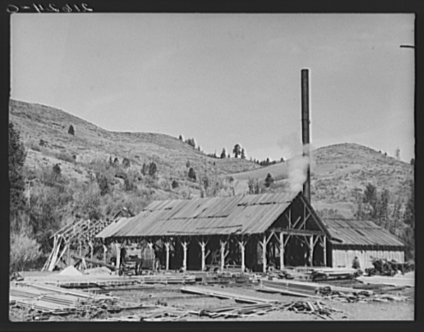 The sawmill. Ola self-help sawmill co-op. Gem County, Idaho. General caption 48