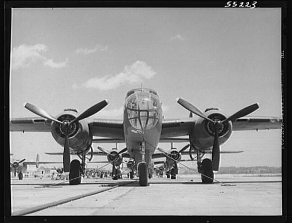 Kansas City, Kansas. B-25 bombers lined up at North American Aviation, Inc., almost ready for their first test flight
