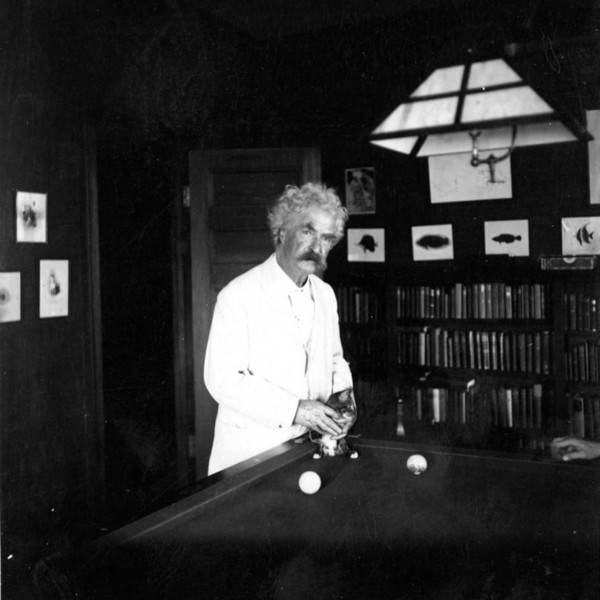 Mark Twain in Redding, CT in 1908
