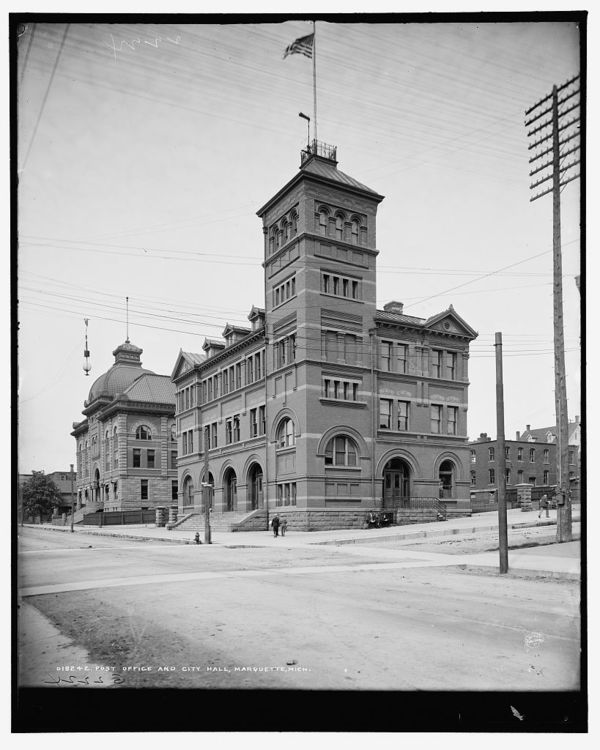 Post office and City Hall, Marquette, Mich.