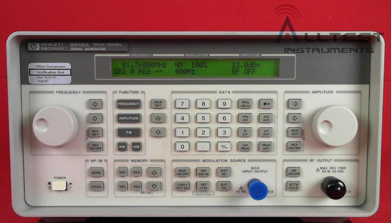 All Test Instruments : Hp agilent a e synthesized signal generator khz