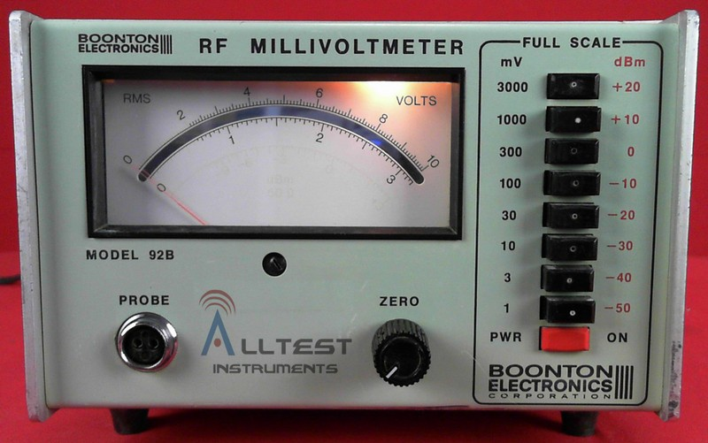 All Test Instruments : Boonton b rf millivoltmeter