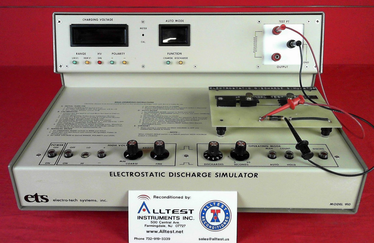 All Test Instruments : Ets a electro tech systems electrostatic discharge