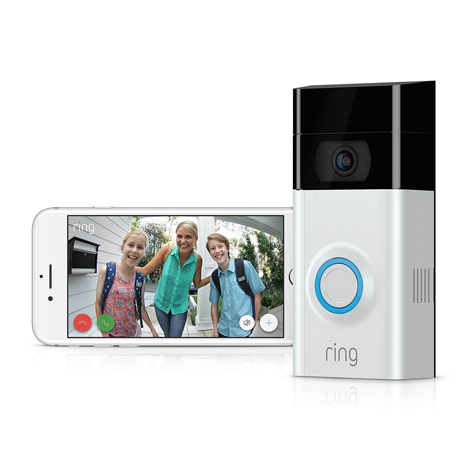 Ring Video Doorbell 2nd Gen 1080P HD Wireless Camera Monitor with Night Vision