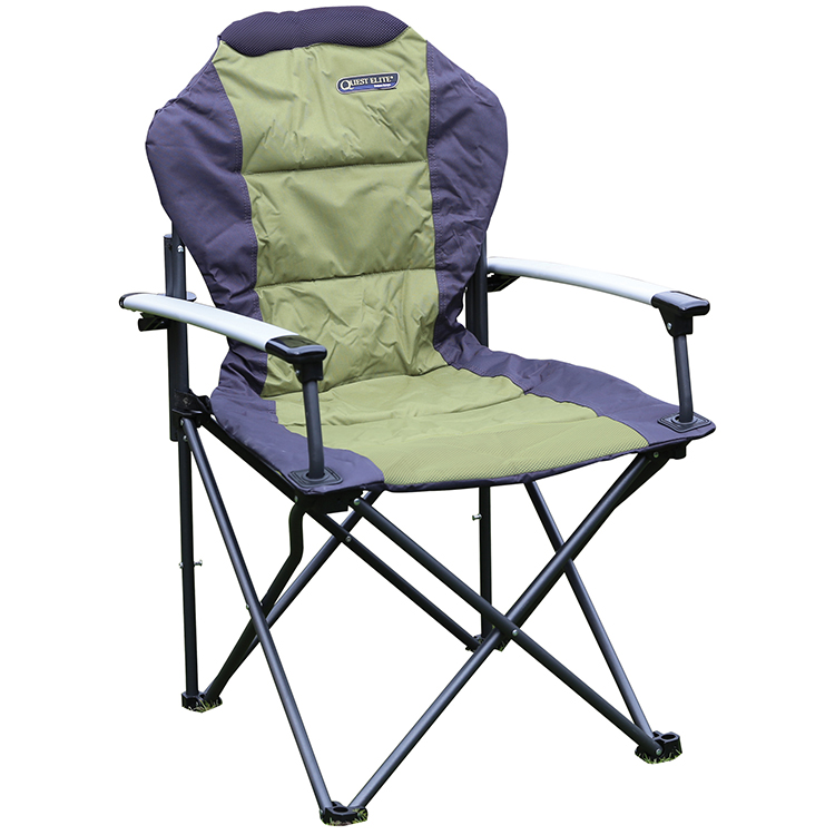 Quest Elite Deluxe Comfort Plus Folding Camping Chair Ebay