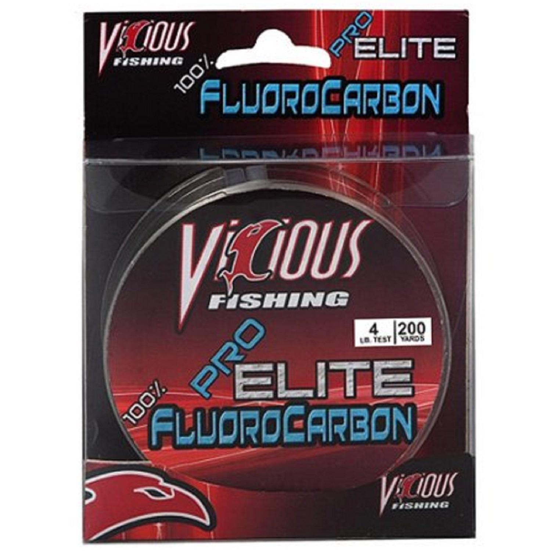 Vicious Pro Elite Fluorocarbon Fishing Line 200 Yards Bass /& Trout Fishing Line
