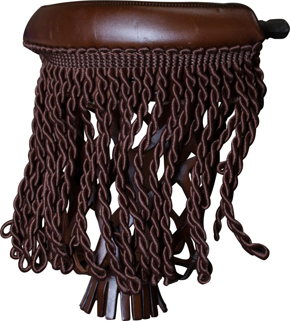 Vintage Pool Table Light Ebay: Ozone Leather Pool Table Pockets With Fringe Antique Brown