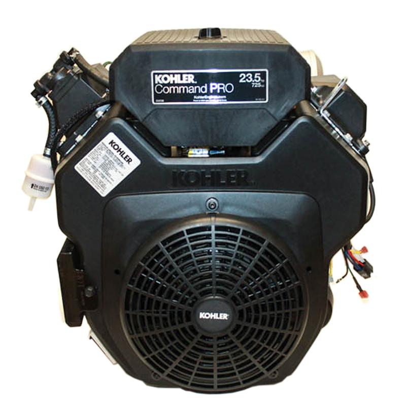23.5hp* Command, Horizontal 9 Tooth Spline Shaft, OHV, ES, Oil Filter & Cooler, Right Muffler, 20 Amp Alt, Kohler Engine