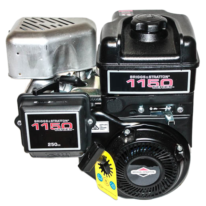 1150 Series, Horizontal Tapered Shaft for MTD Chippers, Intek, OHV, Fuel Tank, Muffler, Recoil Start Briggs & Stratton Engine