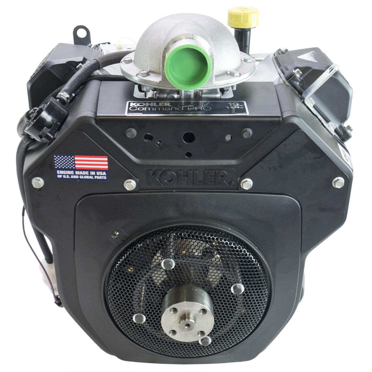 19hp Command Horizontal Engine, OHV, No Shaft, Electric Start, Air Cleaner Adapter, Replaces CH621-3010, fits Walker MTGHS Mower; Kohler Engine