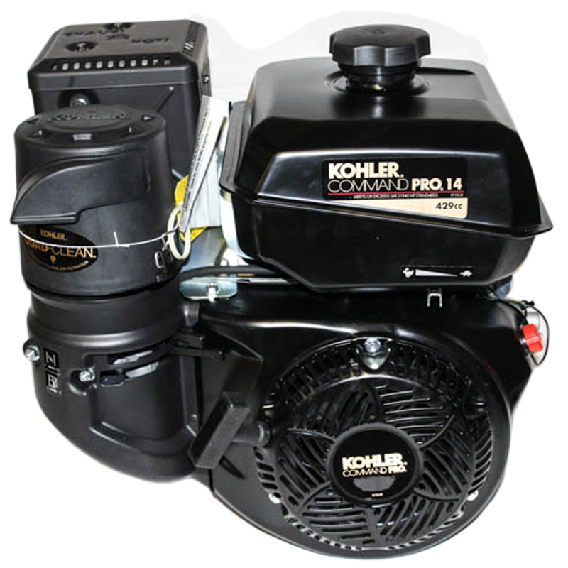 14HP Command Pro, 2:1 Wet Clutch Gear Reduction Horizontal 25mm Keyed Shaft, Recoil Start, OHV, CIS, LOS, Cyclonic Air Kohler Engine