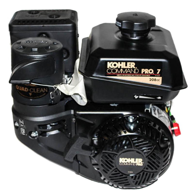 7HP Kohler Command Pro, 2:1 Wet Clutch Gear Reduction 22MM Keyed Shaft, Recoil Start,  CIS, OHV, Fuel Tank, Muffler, Kohler Engine, Kohler