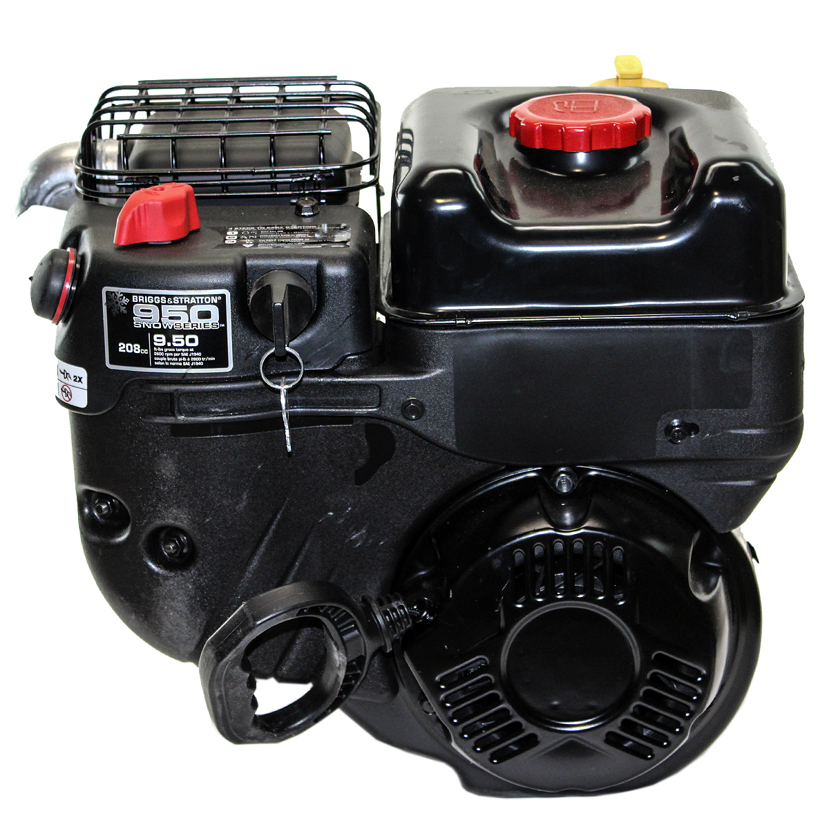 950 Snow Series, Horizontal 7/8 x 2-25/32 Shaft Fuel Tank, Muffler, Recoil Start,  Fixed Speed Throttle, Briggs & Stratton Engine