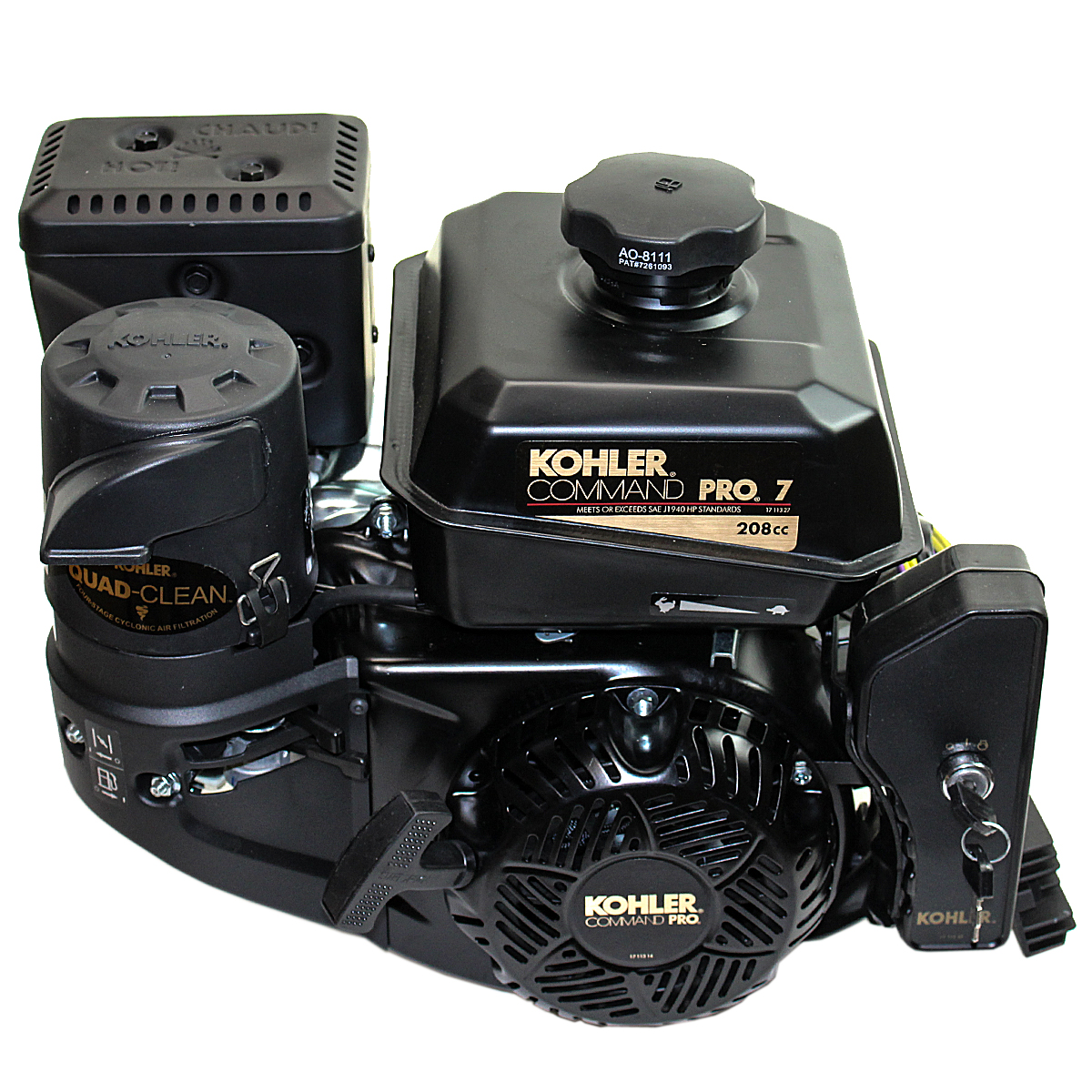 7HP Kohler Command Pro, 6:1 Gear Reduction 3/4