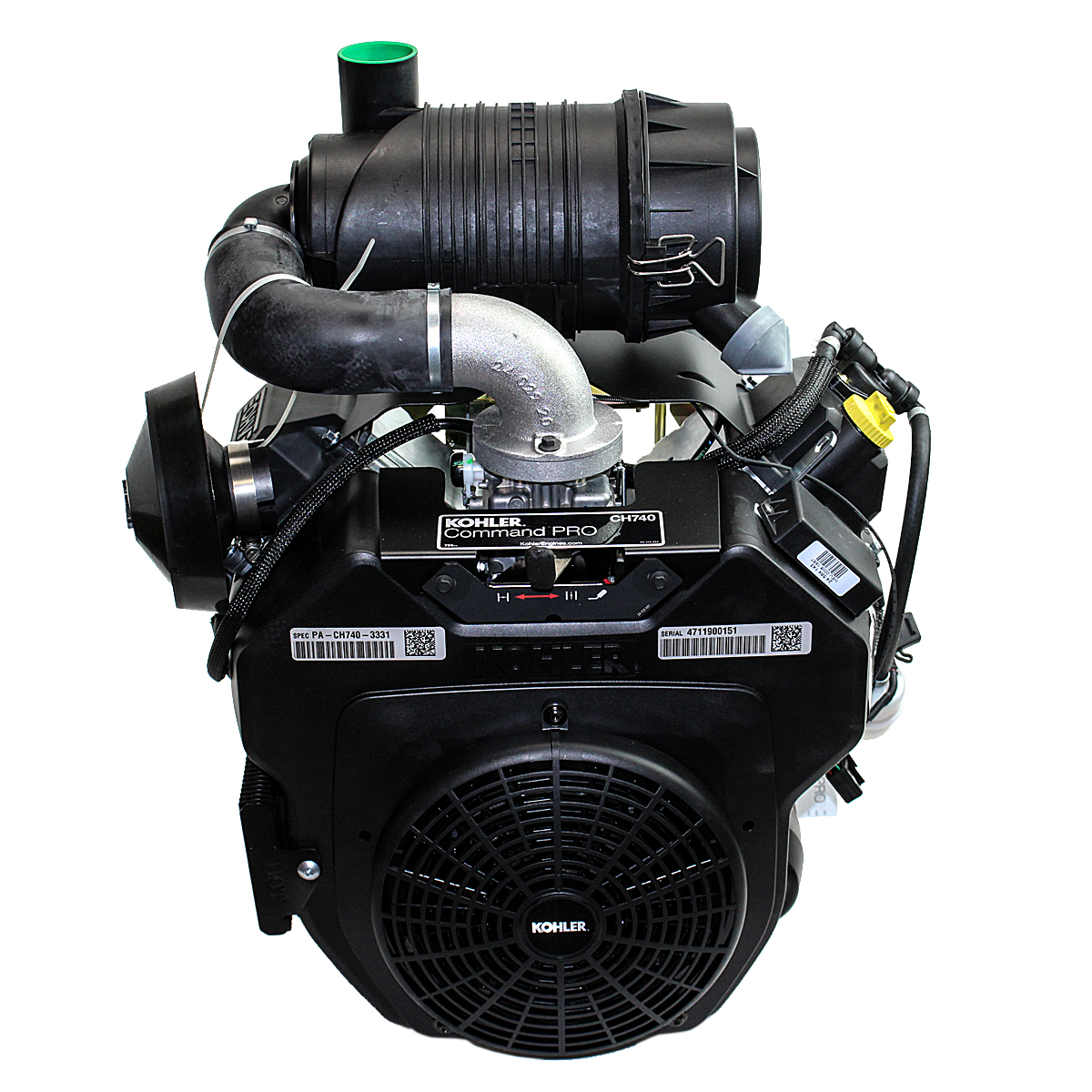 Twin Air Engine Oil Cooler : Hp command twin horizontal short tapered shaft snorkle