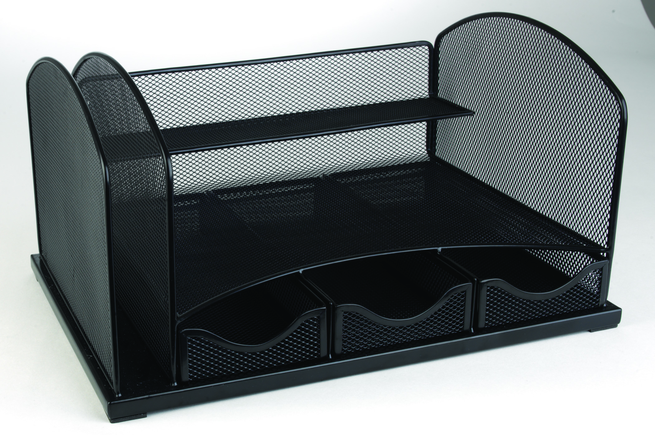 Staples Mesh Metal Desk Organizer With Drawers 8 1 4 Quot H X