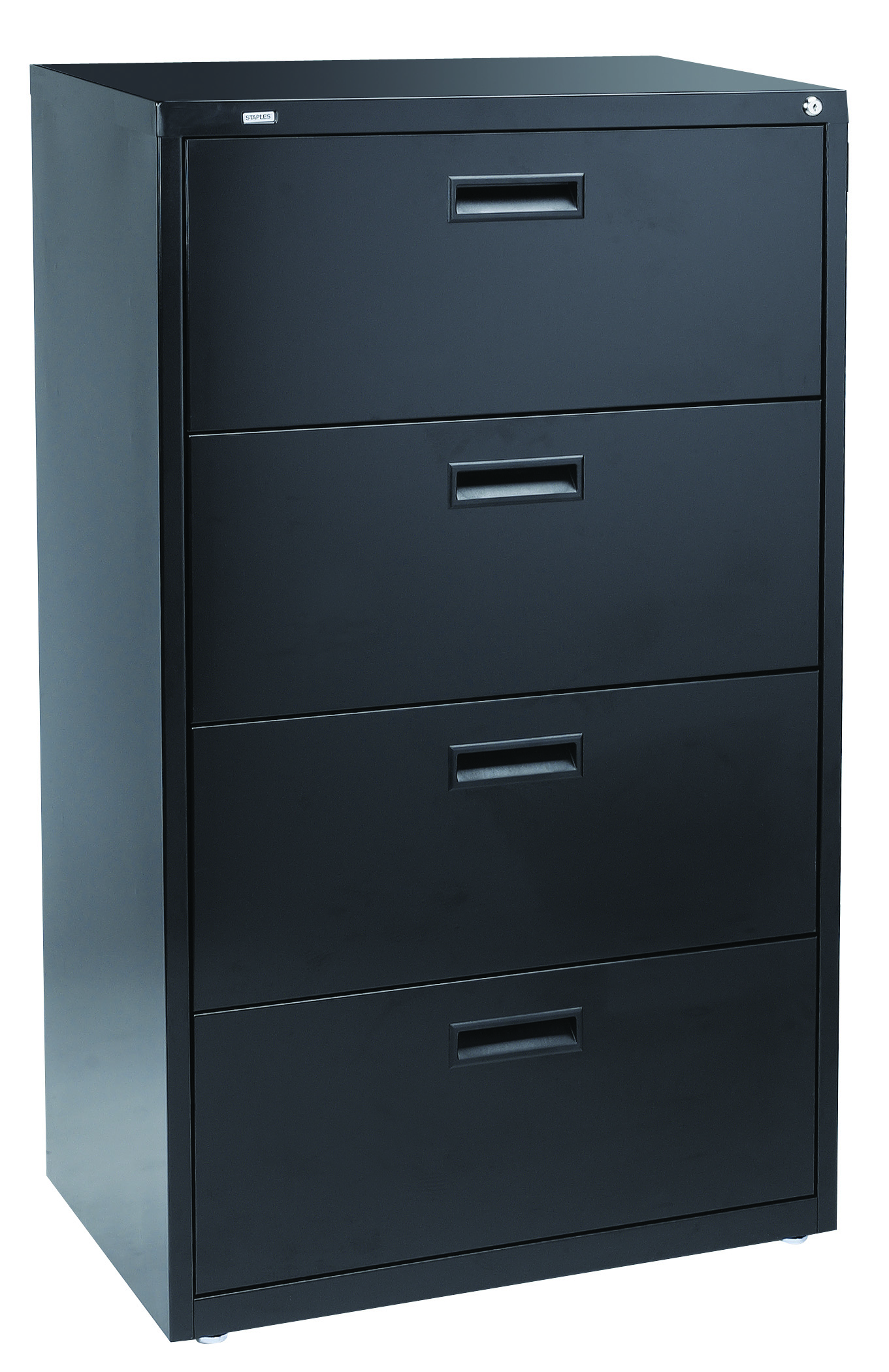 Staples 4 Drawer 30 Quot W Lateral File Cabinet Black Letter