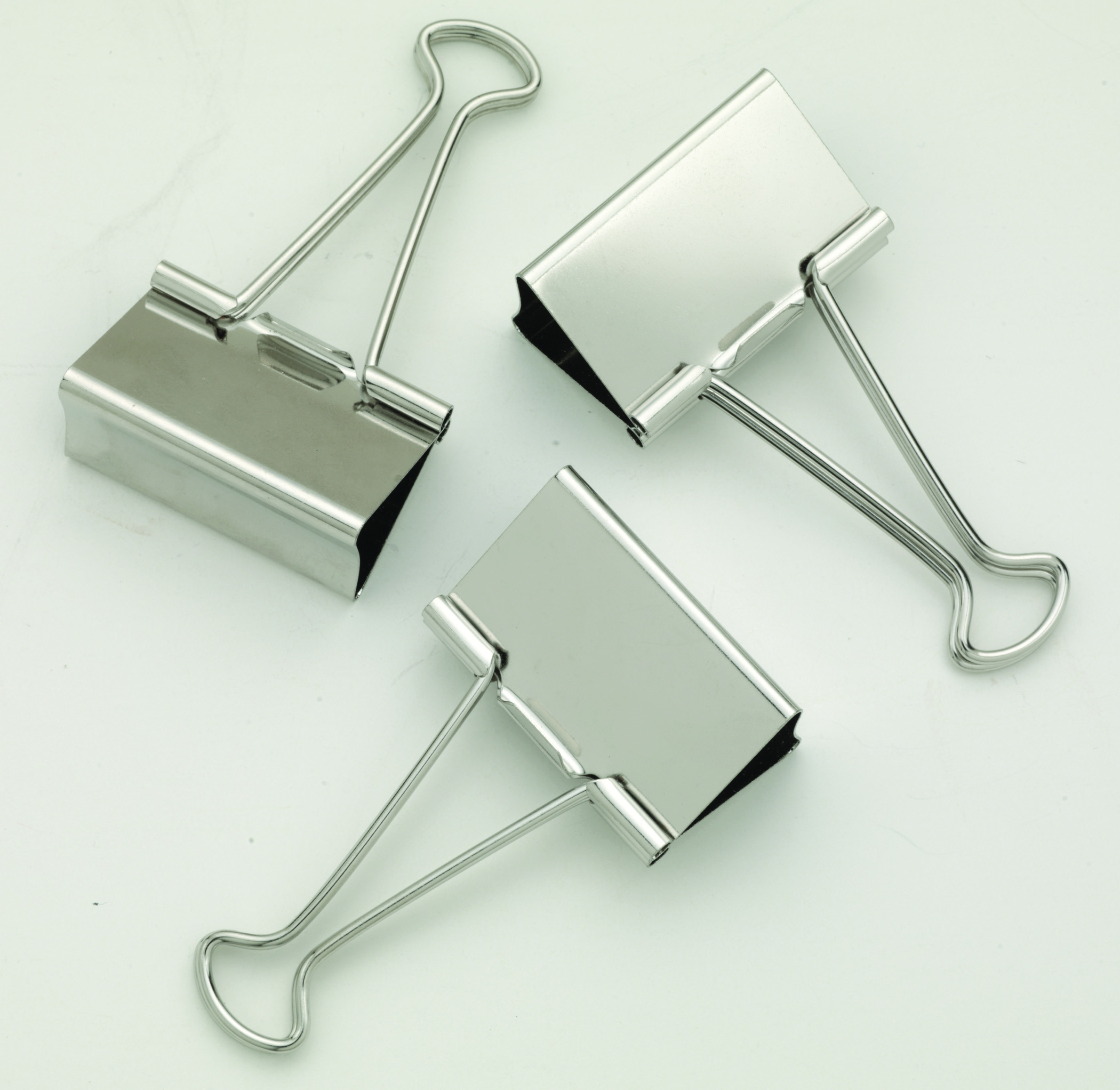"Staples Large Satin Silver Metal Binder Clips, 2"" Size"