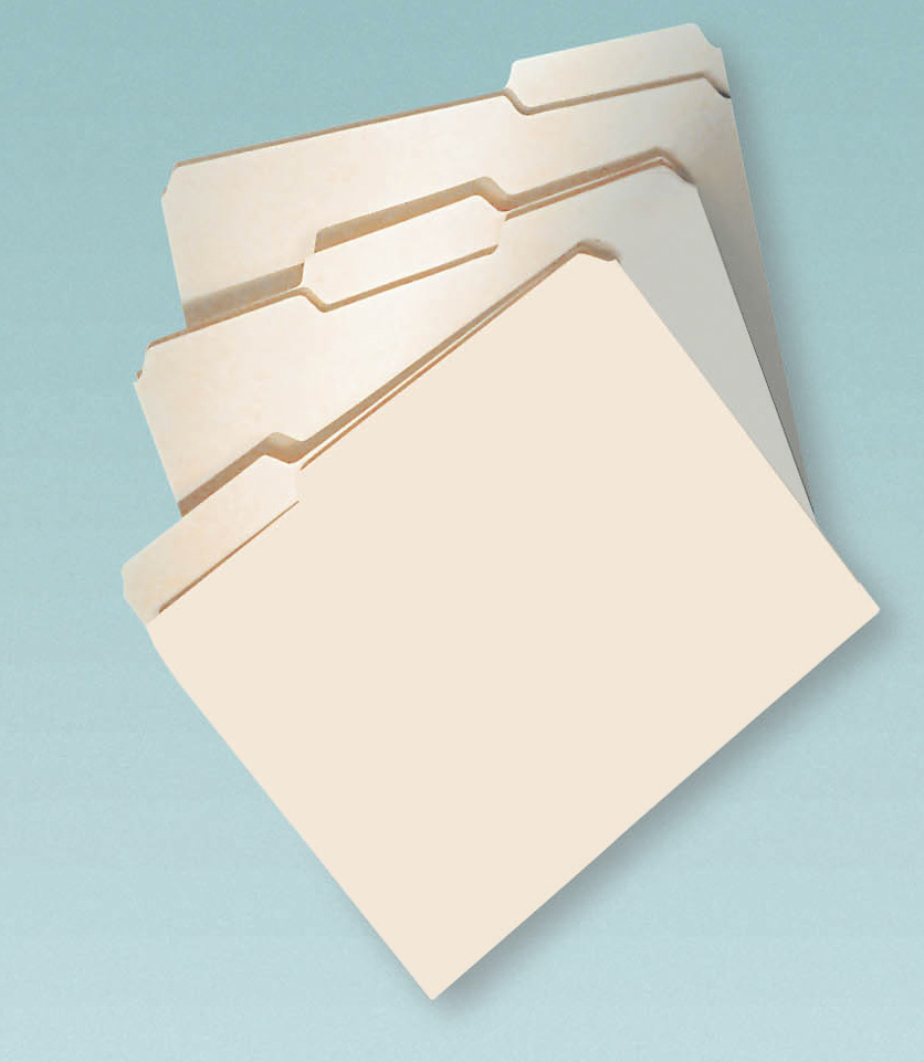 File Folders Letter  Tab Assorted Position