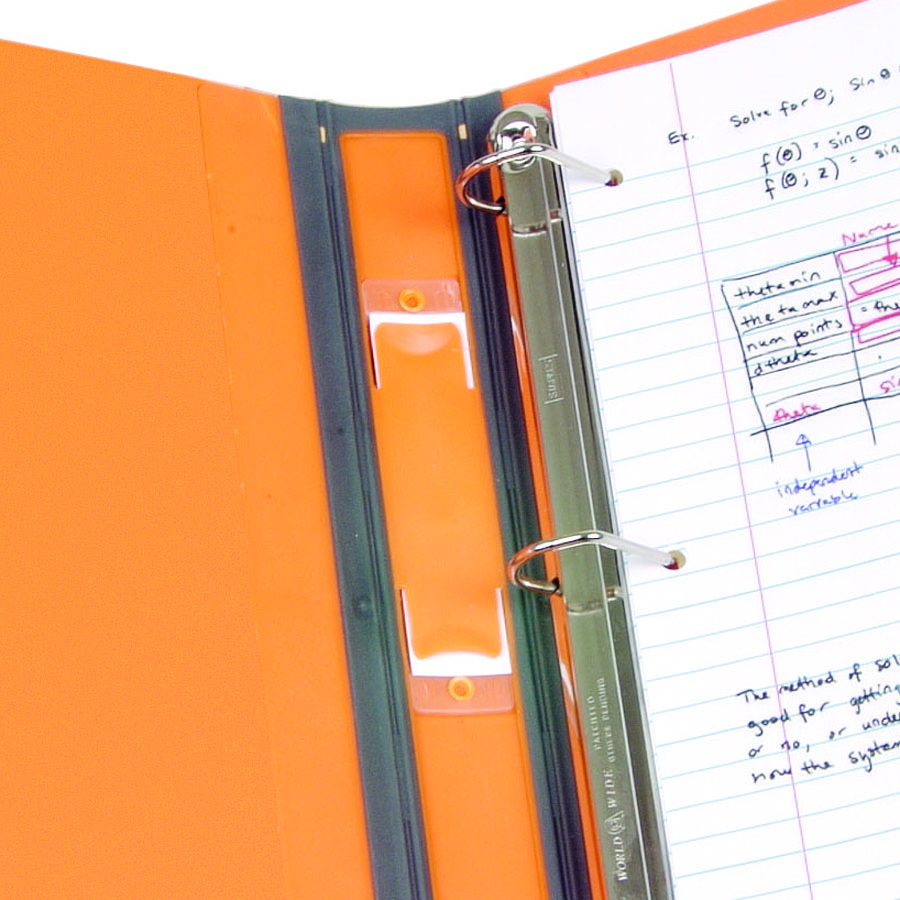 staples 3 inch betterview binder with d rings orange
