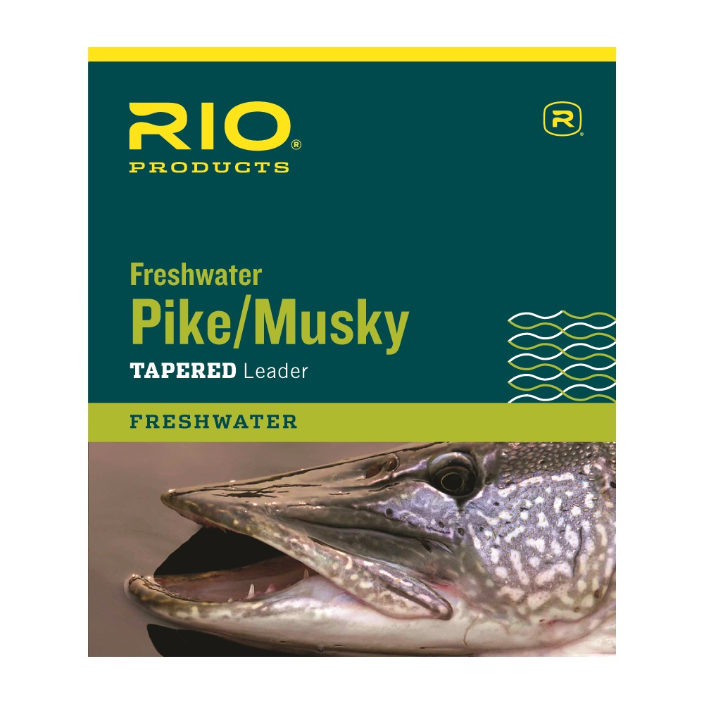 Braided Bronze 20lb Rio Pike//Musky II 7.5/' Tapered Leader