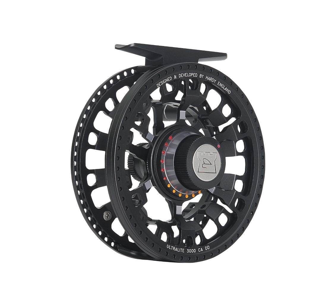 NEW HARDY ULTRALITE CADD 4000 4//5//6 WEIGHT LRG ARBOR FLY FISHING REEL BLACK