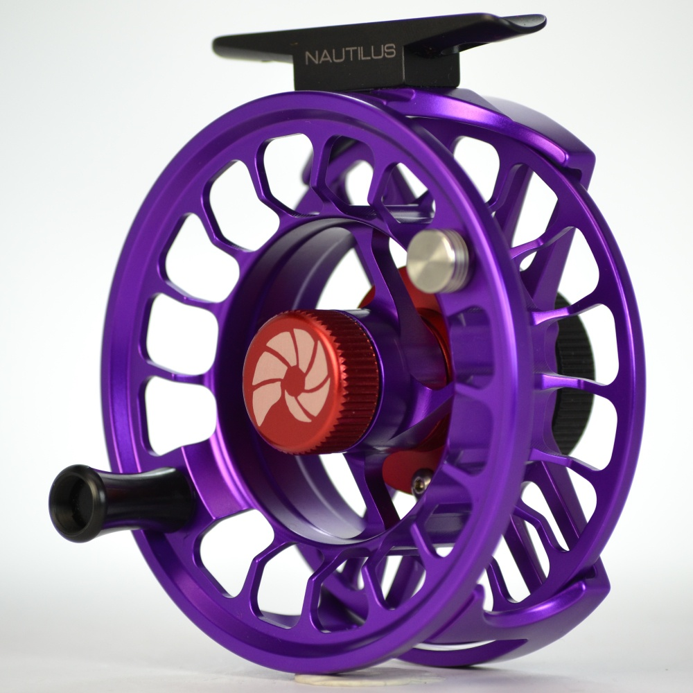 Nautilus x series fly reel xl max violet ebay for Purple fishing reel