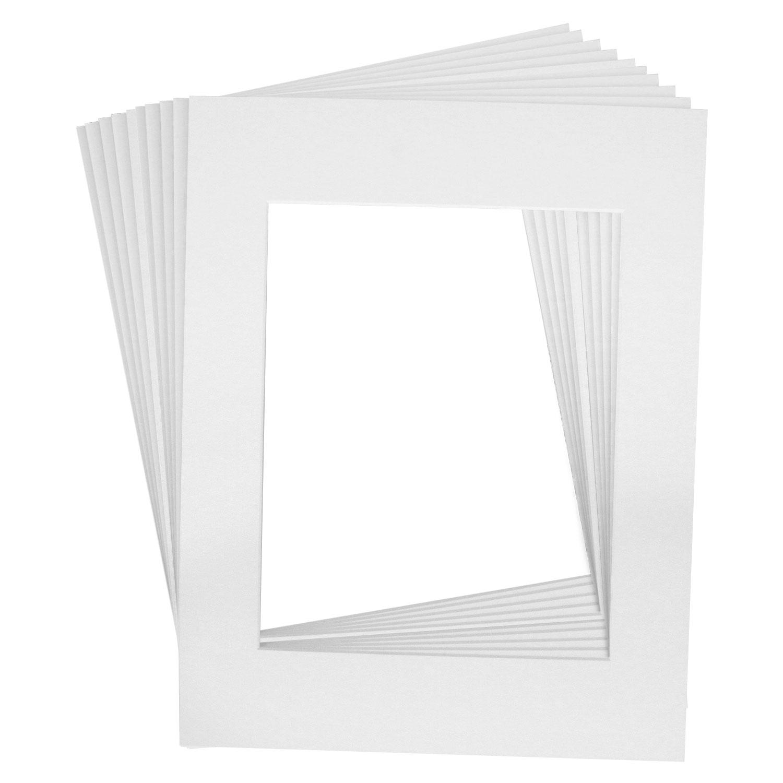 10 Art Mats Premier Quality Acid-Free Pre-Cut 16x20 White Picture ...