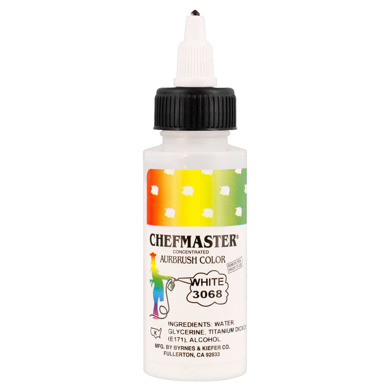 Chefmaster 2-Ounce White Airbrush Cake Decorating Food Color ...