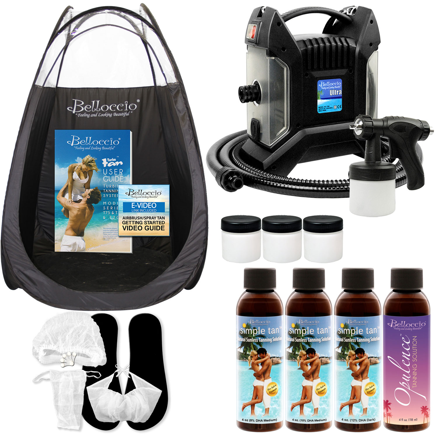 Image is loading ULTRA-PRO-QC-Sunless-Airbrush-SPRAY-TANNING-SYSTEM-  sc 1 st  eBay & ULTRA PRO QC Sunless Airbrush SPRAY TANNING SYSTEM 4 Simple Tan ...