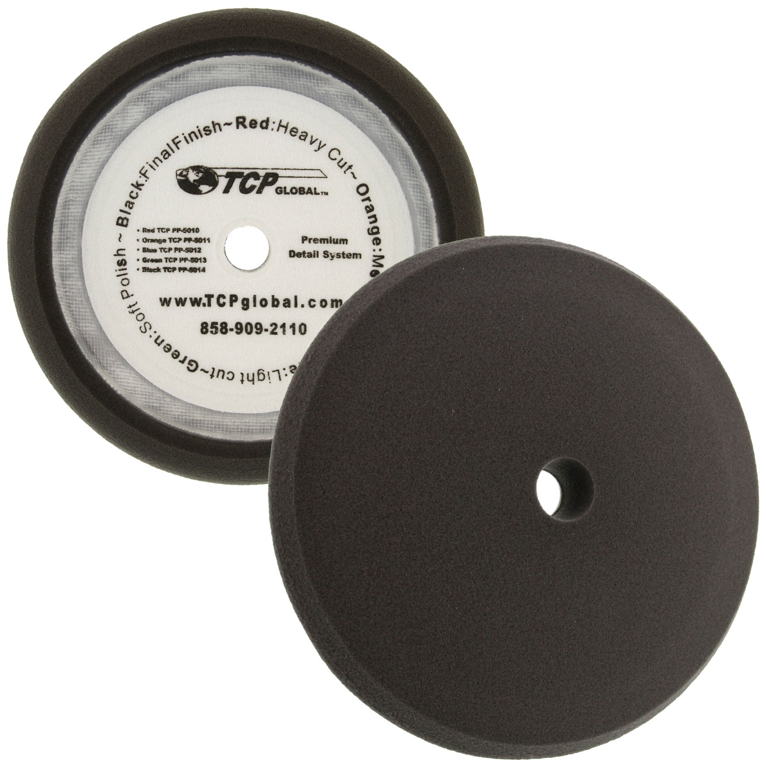 "TCP Global 8"" Green Fine Foam Buffing Grip Pad"