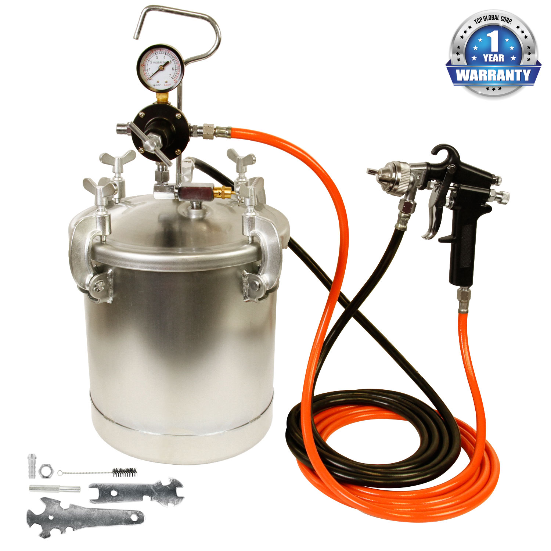 New Pressure Feed Paint Tank Pot Spray Gun Sprayer System