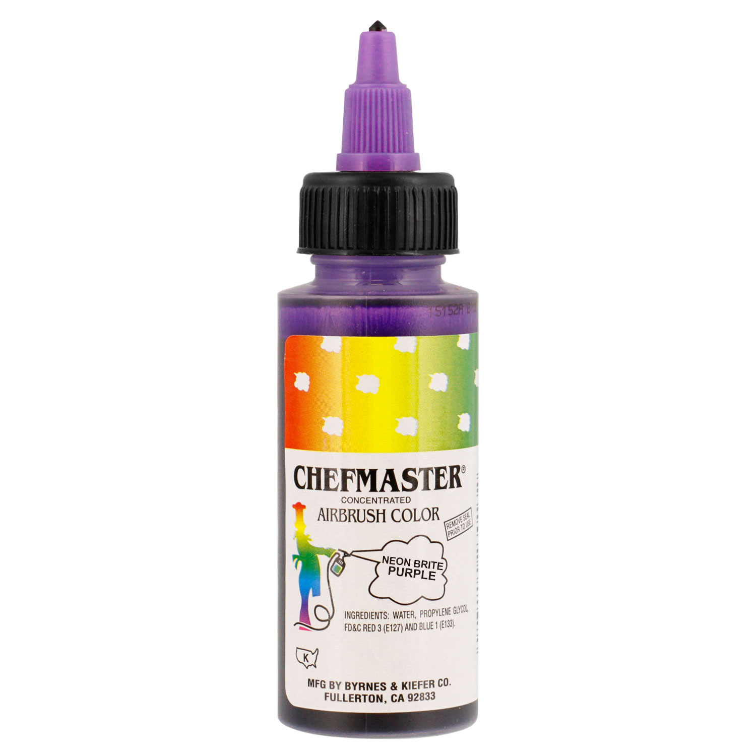 Chefmaster 2-Ounce Neon Brite Purple Airbrush Cake Decorating Food ...