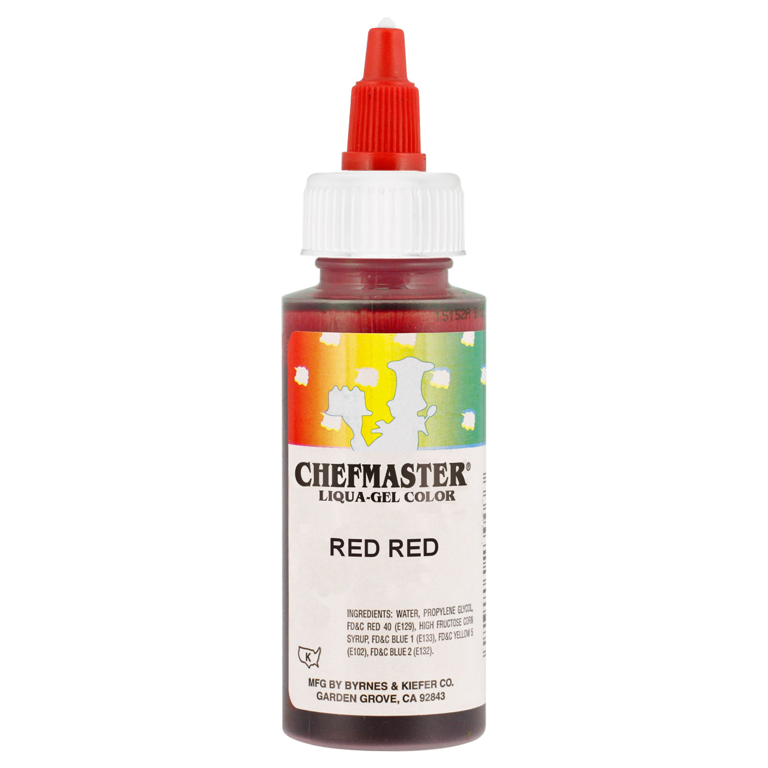 Chefmaster by US Cake Supply 2.3-Ounce Red Red Liqua-Gel Cake Food ...