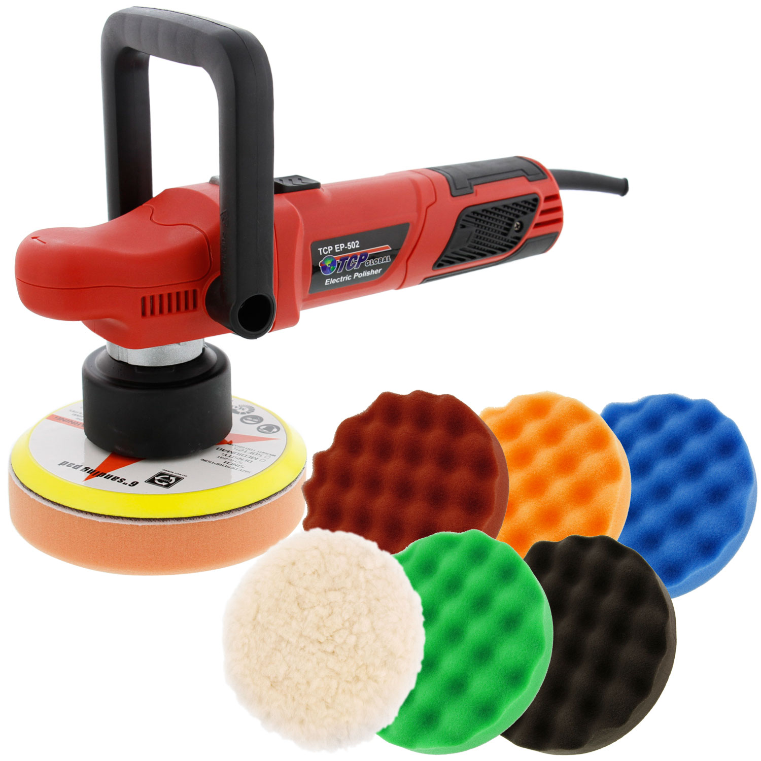 "6"" Variable Speed Random Orbit Dual-Action Polisher, 6 Pad"